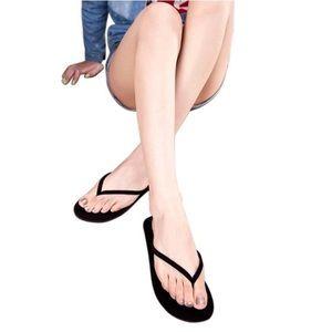 Shoes - Black Flip-Flop Sandals
